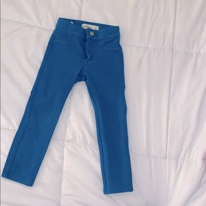 Teal stretch jeggings